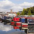 Worcester Diglis Basin Narrow Boats Poster by Colin and Linda McKie