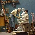Working in Marble Print by Jean-Leon Gerome