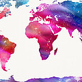 World Map Light  Print by Mike Maher
