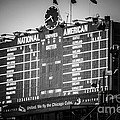 Wrigley Field Scoreboard Sign in Black and White Print by Paul Velgos