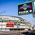 Wrigleyville Sign and Wrigley Field in Chicago Poster by Paul Velgos