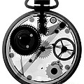 X-ray Of Pocket Watch Print by Bert Myers