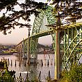 Yaquina Bay Bridge Morning Light Poster by Darren  White