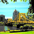 Yellow Clemente Bridge Poster by Erica Michelle
