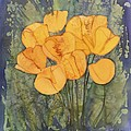 Yellow Tulips Poster by Carolyn Doe