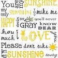 You Are My Sunshine Poster Print by Jaime Friedman