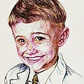 YOUNG BOY Print by PainterArtistFINs Husband MAESTRO