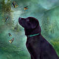 Young Lab And Buttys Print by Carol Cavalaris