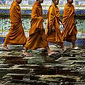Young Monks Print by Rob Tullis