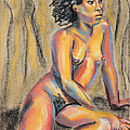 Young Woman Resting and Contemplating Poster by Asha Carolyn Young