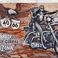 Young's Corral in Holbrook AZ on Route 66 - The Mother Road Print by Christine Till