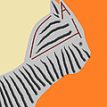Zebra Cat Print by Anita Dale Livaditis