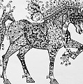 Zentangle Circus Horse Poster by Jani Freimann