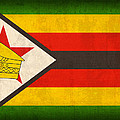 Zimbabwe Flag Distressed Vintage Finish Print by Design Turnpike