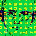 Zodiac Killer With Code and SIgn 20130213 Print by Wingsdomain Art and Photography