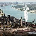 Zug Island Industrial Area of Detroit Poster by Bill Cobb