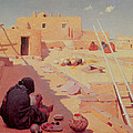 Zuni Pottery Maker Print by William Robinson Leigh