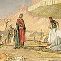 A Frank Encampment in the Desert of Mount Sinai Print by John Frederick Lewis