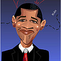 Barack Obama The President of the United States of America Print by Remy Francis