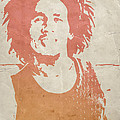 Bob Marley Brown Print by Naxart Studio