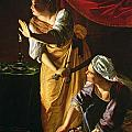 Judith and Maidservant with the Head of Holofernes Print by Artemisia Gentileschi