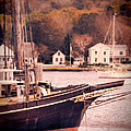 Old Ship Docked on the River Poster by Jill Battaglia