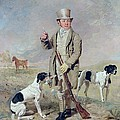 Richard Prince with Damon - the late Colonel Mellish's Pointer Print by Benjamin Marshall