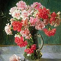 Still life of Carnations   Print by Emile Vernon