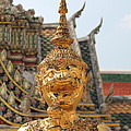 Demon Guardian Statues at Wat Phra Kaew Poster by Panyanon Hankhampa