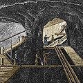 19th-century Mining Poster by Sheila Terry