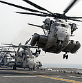 A Ch-53e Super Stallion Lifts Poster by Stocktrek Images