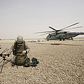 A Field Radio Operator Sets Print by Stocktrek Images