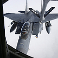 Air Refueling A F-15e Strike Eagle Poster by Daniel Karlsson