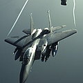 An F-15e Strike Eagle Flies Over Iraq Print by Stocktrek Images