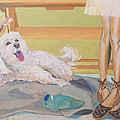 ARE YOU PAINTING MY PORTRAIT Print by Lisa Hershman