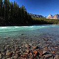 Athabasca River in Jasper National Park Print by Mark Duffy