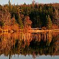 Autumn Lake Print by Kate  Leikin