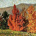 Autumn Landscape Print by Henri-Edmond Cross