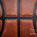 Basketball - Leather Close Up Poster by Ben Haslam