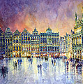 Belgium Brussel Grand Place Grote Markt Print by Yuriy  Shevchuk
