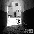 Bicycle in Tunnel Poster by Gordon Wood