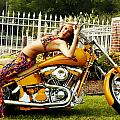 Bikes and Babes Print by Clayton Bruster