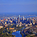 1 Boathouse Row Philadelphia Pa Skyline Aerial Photograph Poster by Duncan Pearson