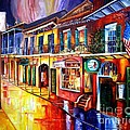 Bourbon Street Red Poster by Diane Millsap