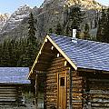 Cabin In Yoho National Park, Lake Poster by Ron Watts