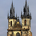 Church of Our Lady Before Tyn - Prague CZ Print by Christine Till