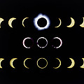 Composite Time-lapse Images Of Solar Eclipses Print by Dr Fred Espenak