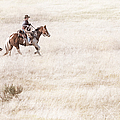 Cowboy and Dog Print by Cindy Singleton