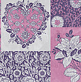 Deco Heart Pink Poster by JQ Licensing