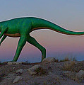 Dinosaur Loose on Route 66 Poster by Mike McGlothlen